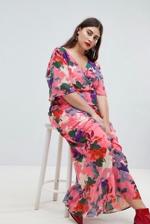 KIMONO MAXI DRESS IN BRIGHT FLORAL